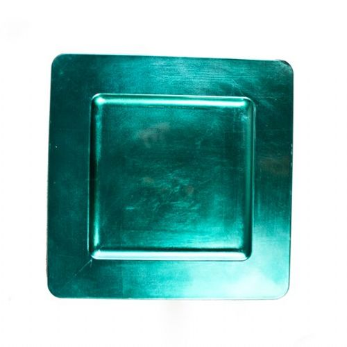 TURQUOISE Square Charger Plate / Underplate